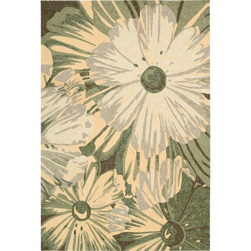 Nourison South Beach Blooming Flowers Polyester Rug