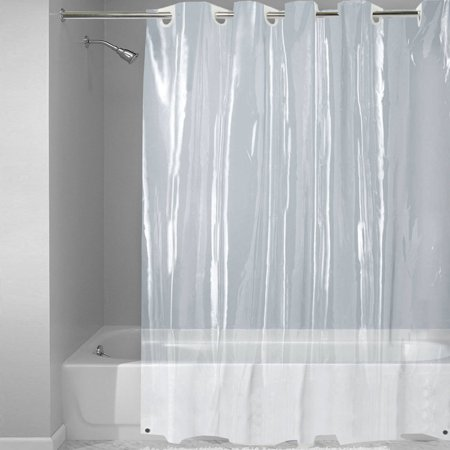 EZ On Super Clear 100 Percent EVA Shower Curtain Liner With Built In Hooks 72 X