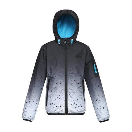 Rokka&Rolla Boys' Boys' Lightweight Windbreaker Rain Jacket with Hood, Zip Up & Water-Resistant sizes 3T-16
