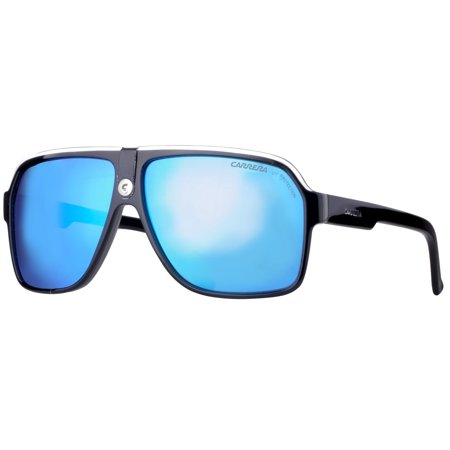 Carrera 33/S 8V6 Z0 Black Crystal Grey Blue Mirror Unisex Aviator (Sunglasses Carrera 2014)