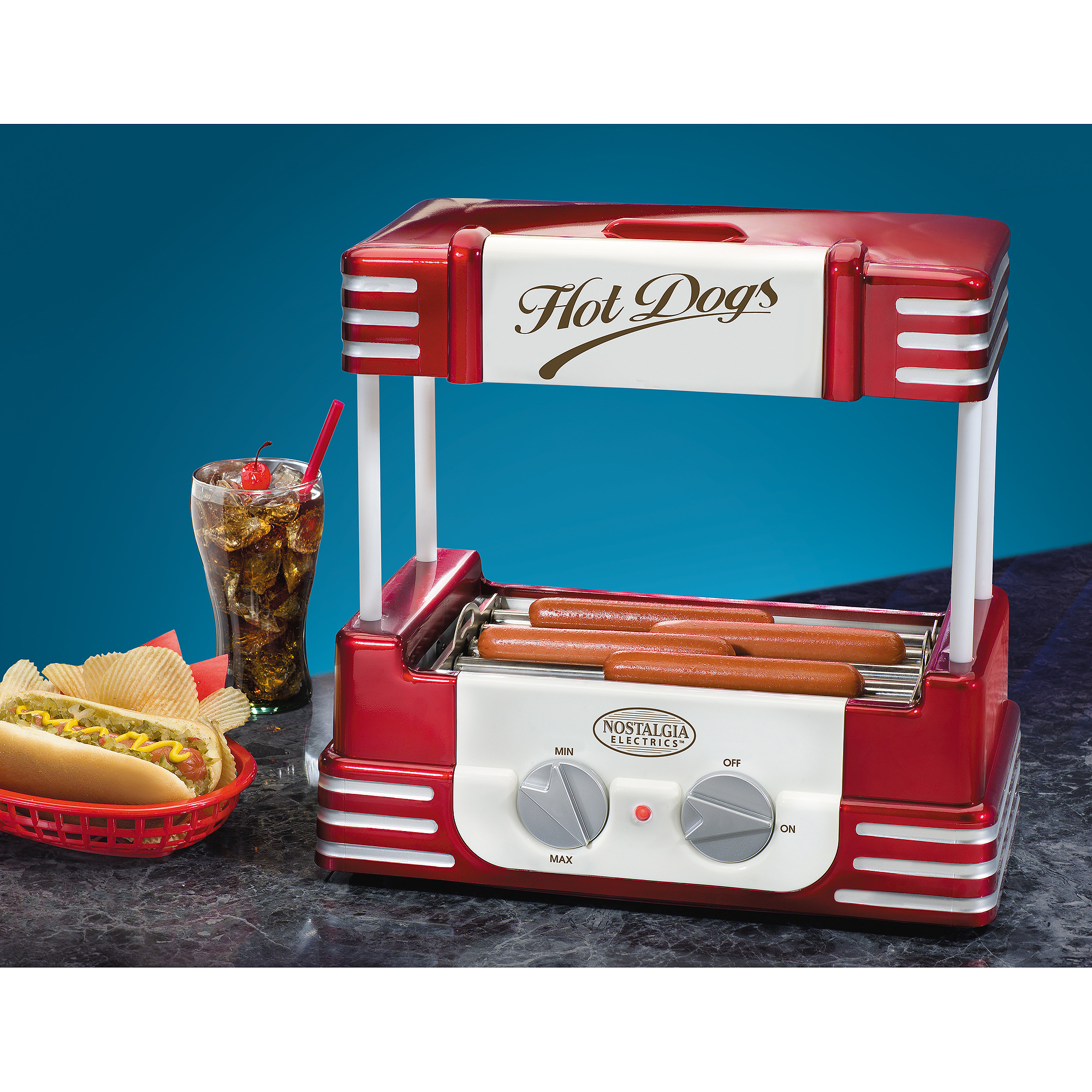 Nostalgia Electrics Retro Series Hot Dog Roller, RHD800