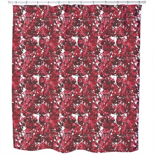 Uneekee Camouflage Red Shower Curtain