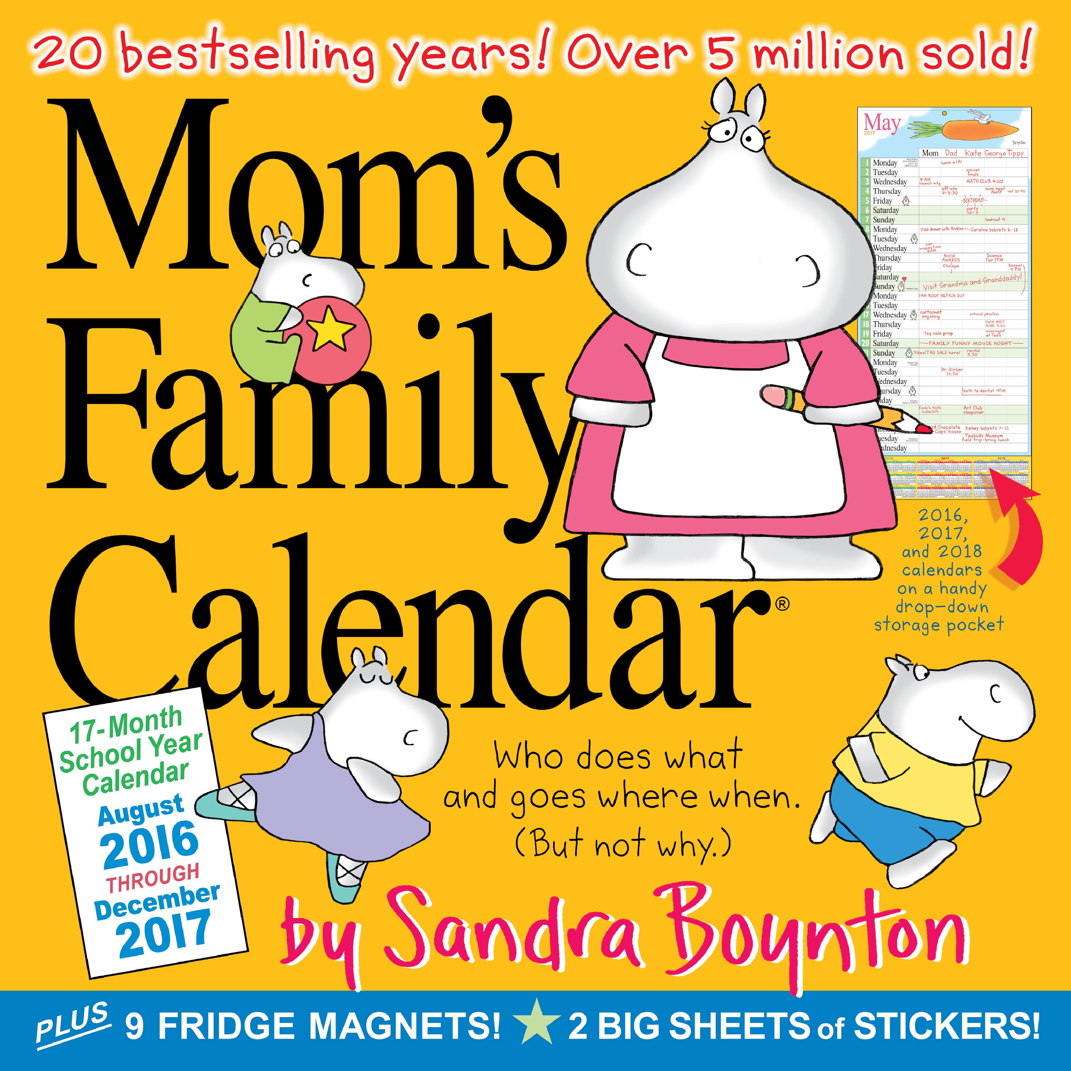 Mom\'s Family Wall Calendar 2017 - Walmart.com