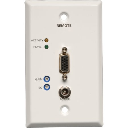 Tripp Lite VGA over Cat5/Cat6 Video Receiver RJ45 type Wallplate TAA / GSA 1000' - 1 Input Device - 1 Output Device -