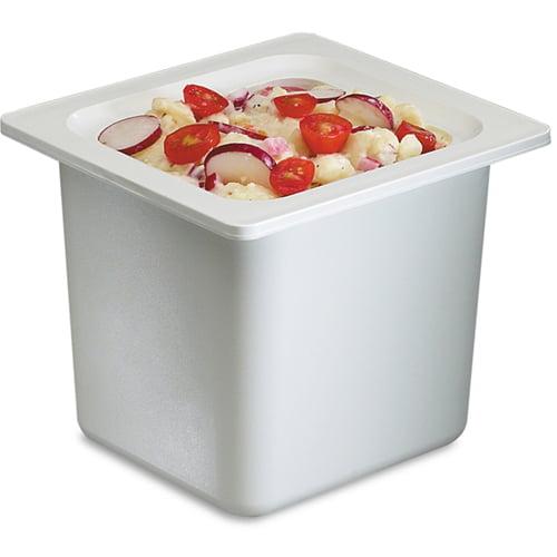 San Jamar Chill-It Food Pan, 1/6 Size, White