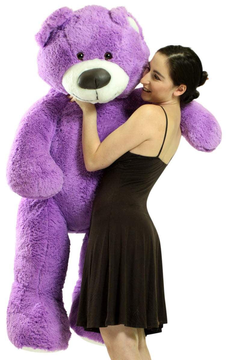 5 Foot Super Soft Purple Teddy Bear Big Plush 60 Inch Large Stuffed Animal Made in USA by BigPlush