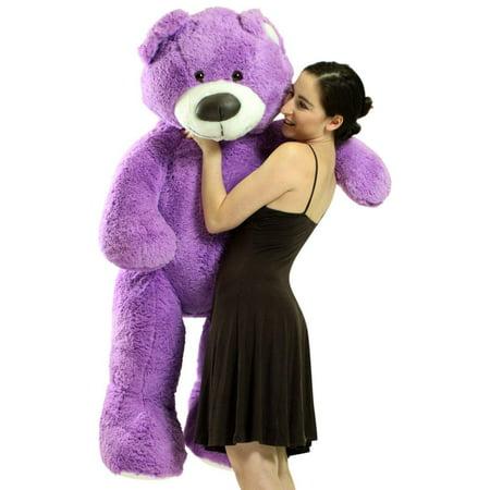 5 Foot Super Soft Purple Teddy Bear Big Plush 60 Inch Large Stuffed Animal Made in USA Super Big Bear Plush