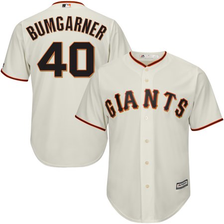 Youth Off Road Mens Jerseys - Madison Bumgarner Majestic Youth Official Cool Base Player Jersey - Cream
