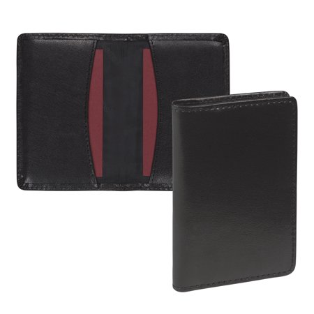 Card Holder Type - Regal Leather Business Card Holder, Holds 25 Cards, Black
