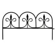 EmscoGroup 2083HD Resin Victorian Fleur De Lis Garden Fence, 18 ft.