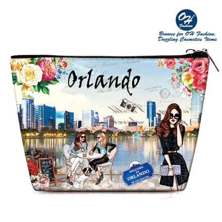OH Fashion Women Travel Cosmetic Bag, Makeup case organizer, toiletry bag, Magnificient Orlando, ideal for storage lipstick, makeup brushes, manicure pedicure, for handbag 1 - Halloween Stores Orlando
