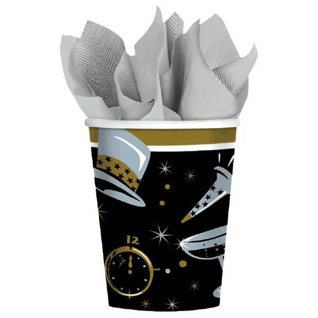 Black Tie Affair 36 Ct Paper 9 oz Cups New Years Eve
