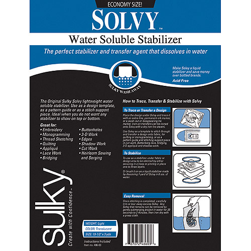 "Solvy Water Soluble Stabilizer 19-1/2"" x 3 Yards"