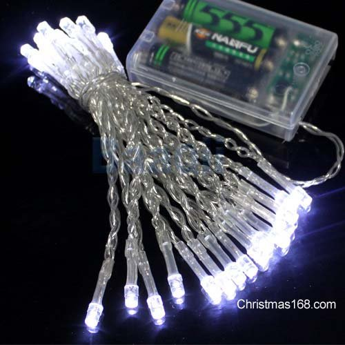 Perfect Holiday 50 LED String Light Battery Operated - White