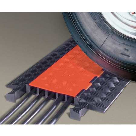 GUARD DOG GD5X125-O/B Cable Protector, Orange and Black, 3 ft.