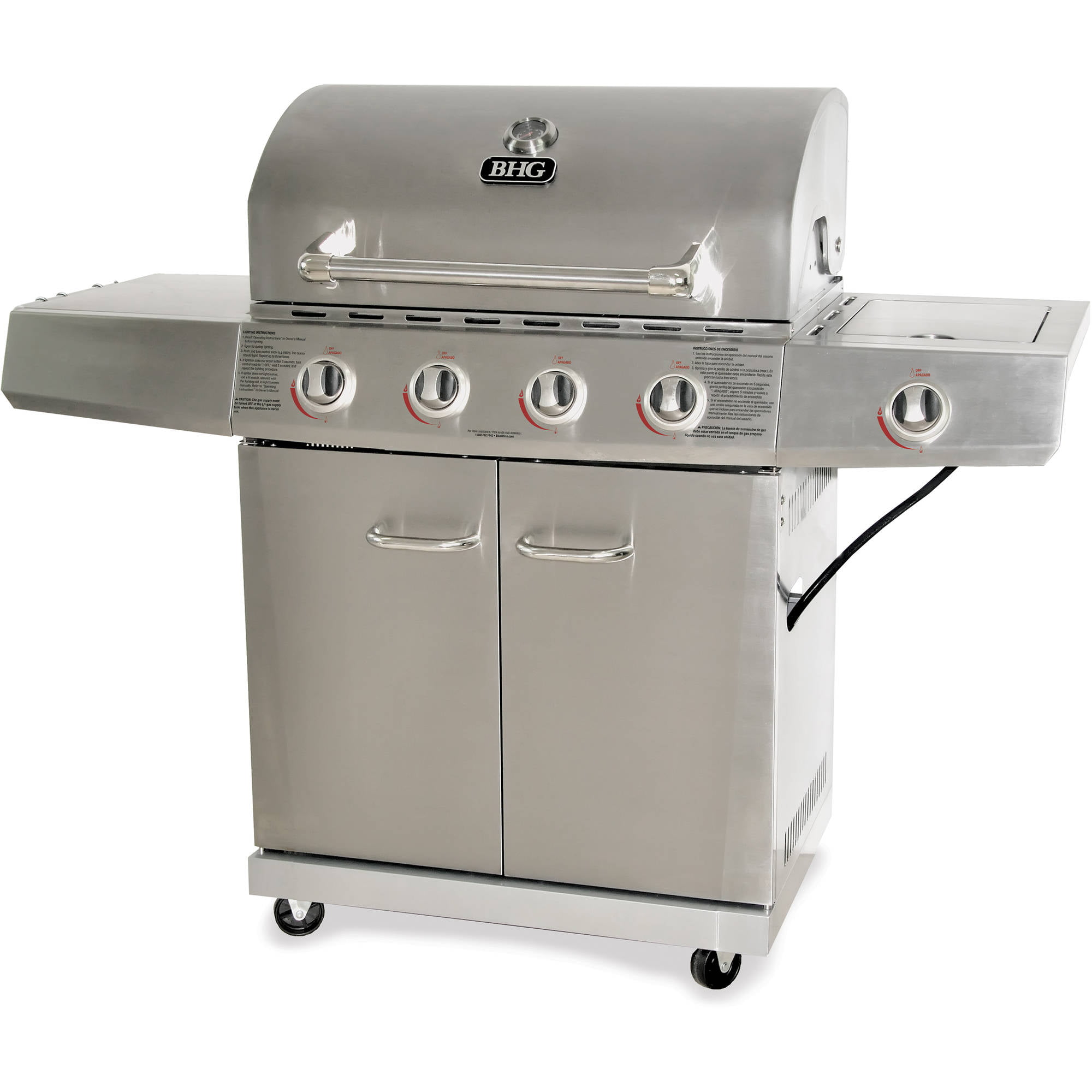 Better Homes and Gardens 4 Burner Gas Grill Stainless Steel