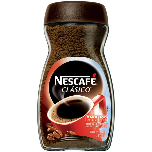 NESCAFE CLASICO Dark Roast Instant Coffee 7 oz. Jar