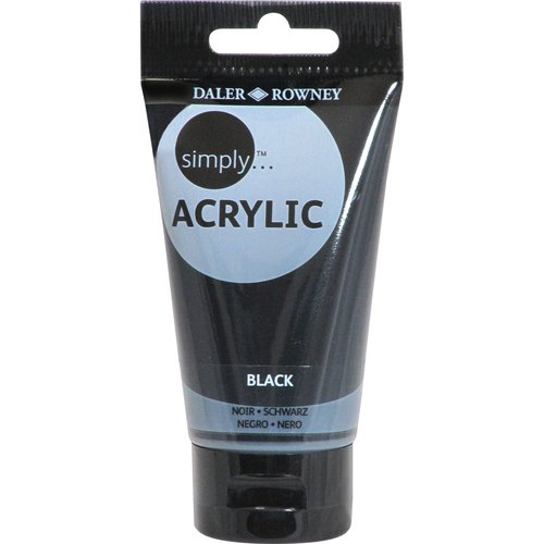 Simply Acrylic 75ml Paint Tube, Black