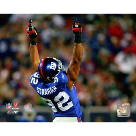 Michael Strahan Celebrates After Becoming The Giants All Time Sack Leader Against The Philadelphia Eagles At Giants Stadium 2007 Photo Print