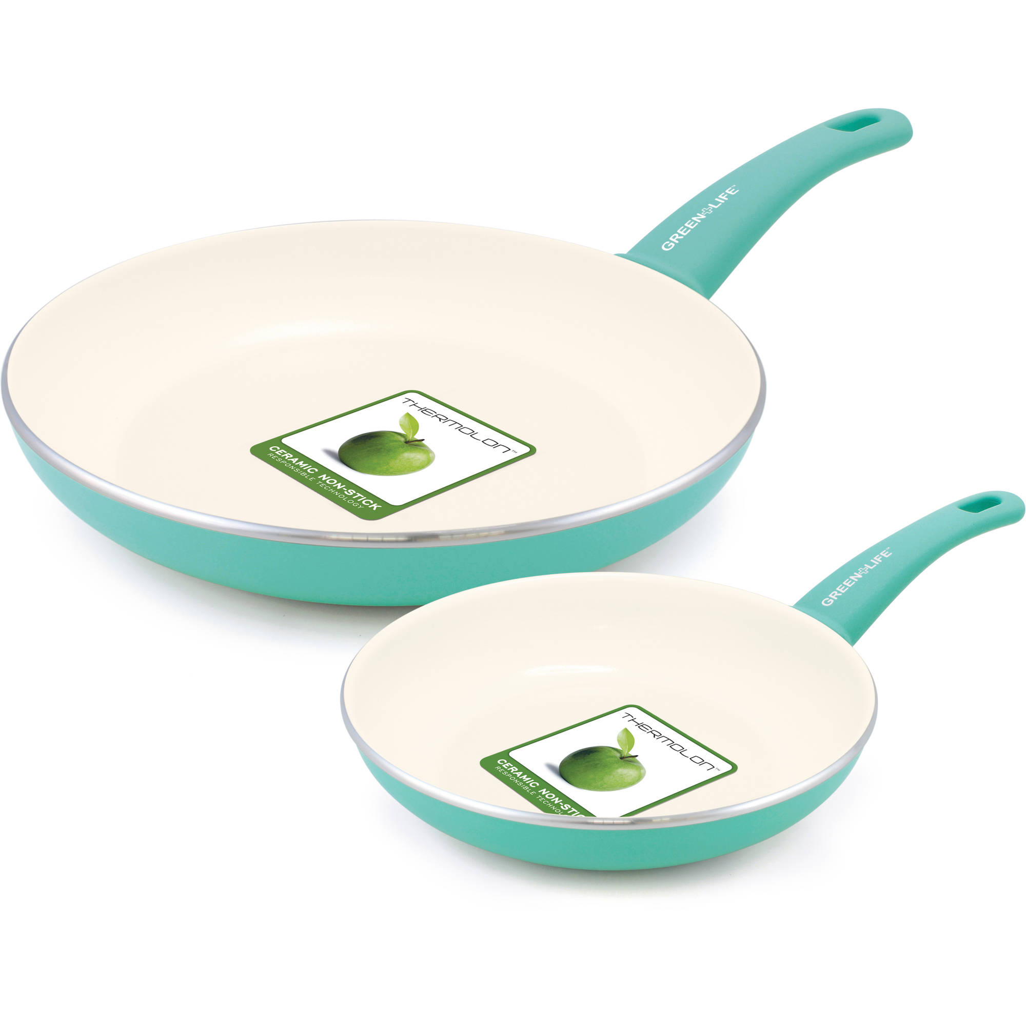GreenLife Healthy Ceramic Non-Stick 14-Piece Soft Grip Cookware ...