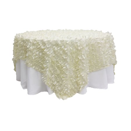 Leaf Petal Taffeta Table Overlay Topper 90