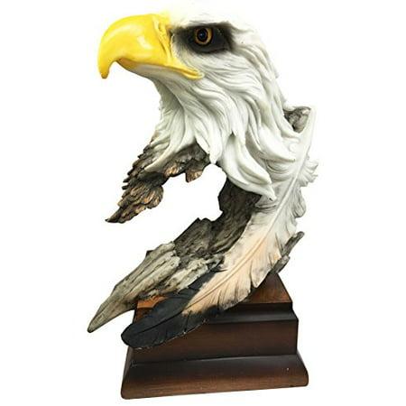 Large Glorious Surveyor Of Horizons Grand Bald Eagle Bust Statue Decor Figurine For Patriots Civil Servants Wildlife Lovers Eagle Fans Grand Large Fan