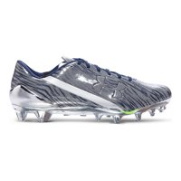 51e41577f Product Image Under Armour Men s UA Spotlight Football Cleats 1280533 241  (Metallic Silver  Midnight Navy