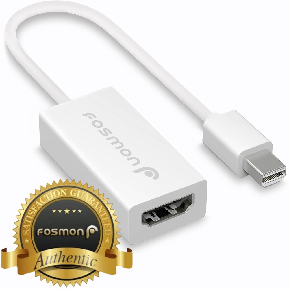 Fosmon Mini DisplayPort (MiniDP/mDP/ThunderBolt/ThunderBolt 2 Port Compatible) to HDMI Adapter Cable - White