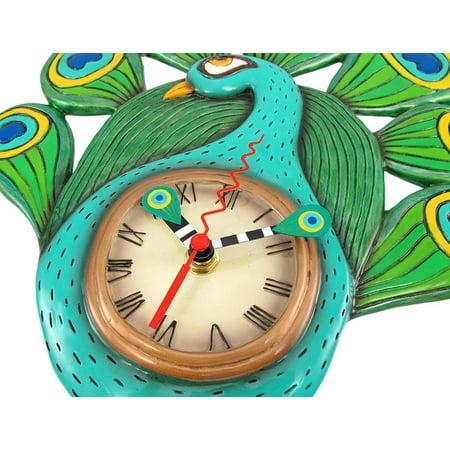 Allen Designs Pretty Peacock Pendulum Wall Clock - image 1 de 5