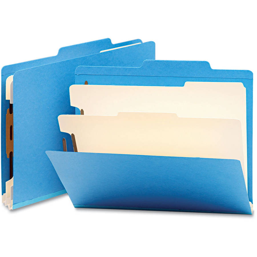Smead Top Tab Classification Folders w/2 Dividers, 6-Sections, 10/Box