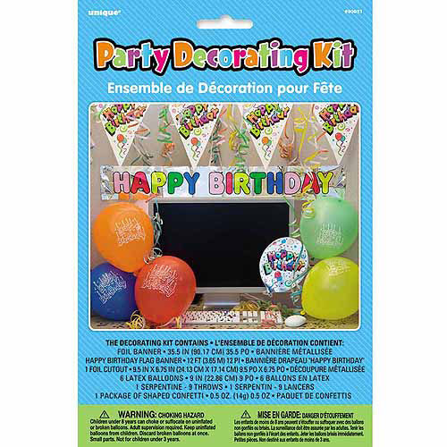 Happy Birthday Office Cubical Decorating Kit, 11pc