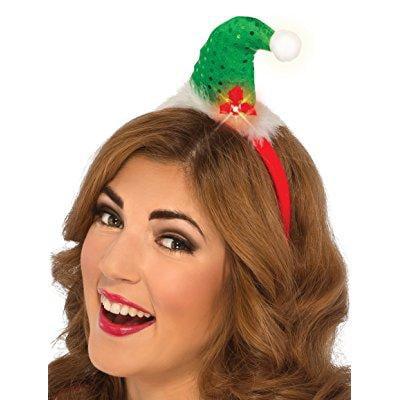 rubie's costume women's clausplay sequin light-up santa headband, green, one size