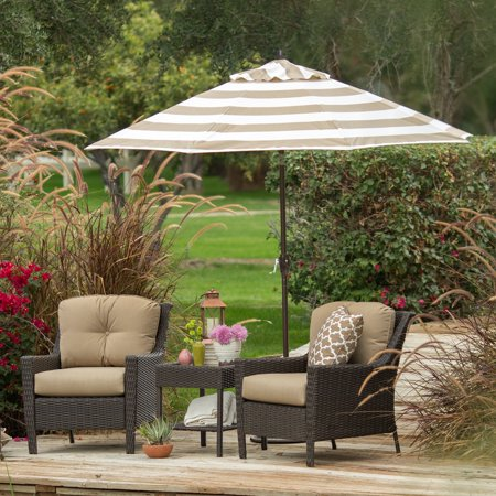 Coral Coast 9-ft. Olefin Fashion Patio Umbrella with Crank and -