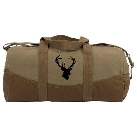 """Hunting Deer Buck Antlers Two Tone 19"""" Duffle Bag with Brown (Antler Liquis Luggage Best Price)"""