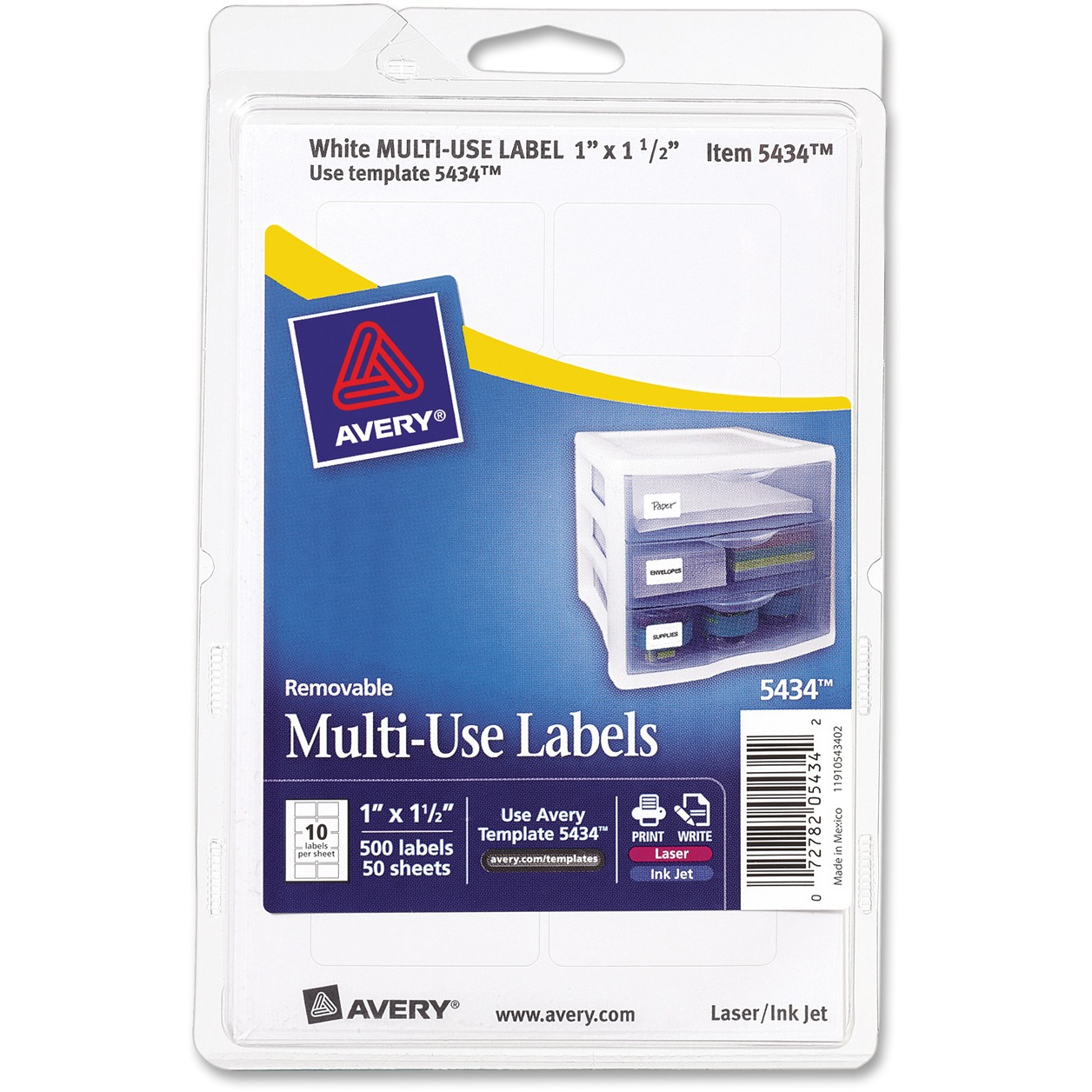 Avery Multipurpose Removable Rectangular Labels