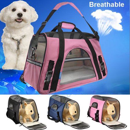 Soft Pet Carrier - Pet Carriers Soft Sided Carry Small Cats / Dogs Comfort Travel Bag Airline Approved, Black