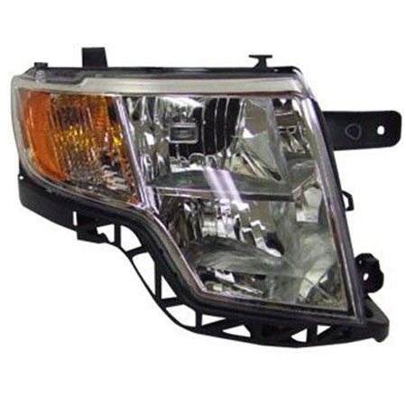 2007-2010 Ford Edge  Passenger Side Right Bright Bezel Head Lamp Assembly 7T4Z13008A CAPA