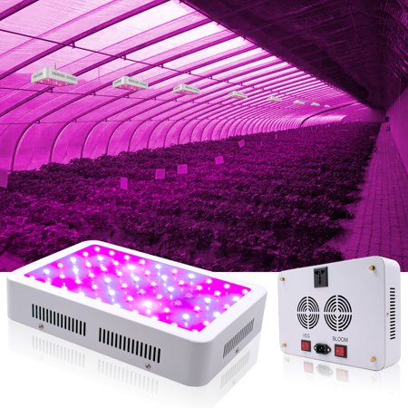 LED Grow Light Kits on Clearance, Newest 600W LED Full Spectrum Panel Grow Lamp with IR & UV LED Grow Lights, for Indoor Plants, Succulents, Seedling, Vegetables, Lettuce, Tomatoes and Herbs,