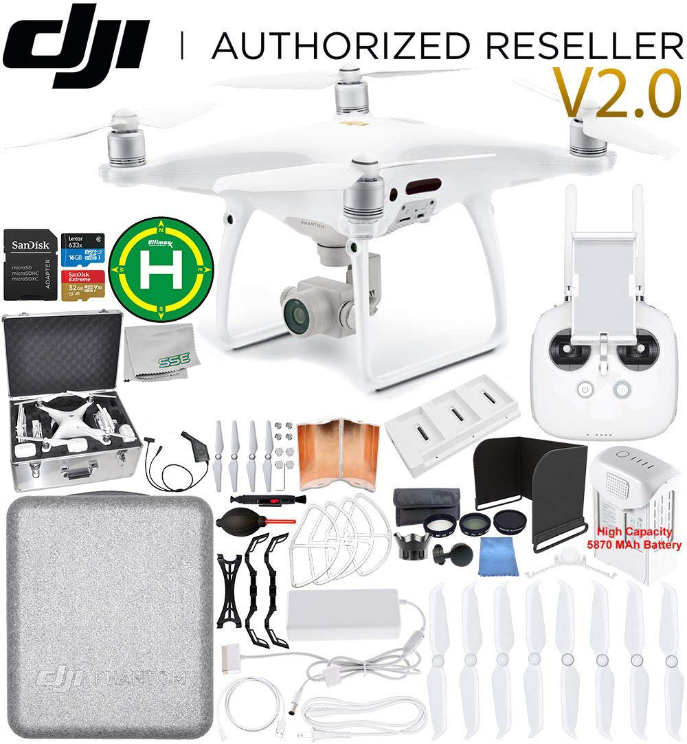 DJI Phantom 4 PRO V2.0/Version 2.0 Quadcopter 1 Battery Ultimate Bundle
