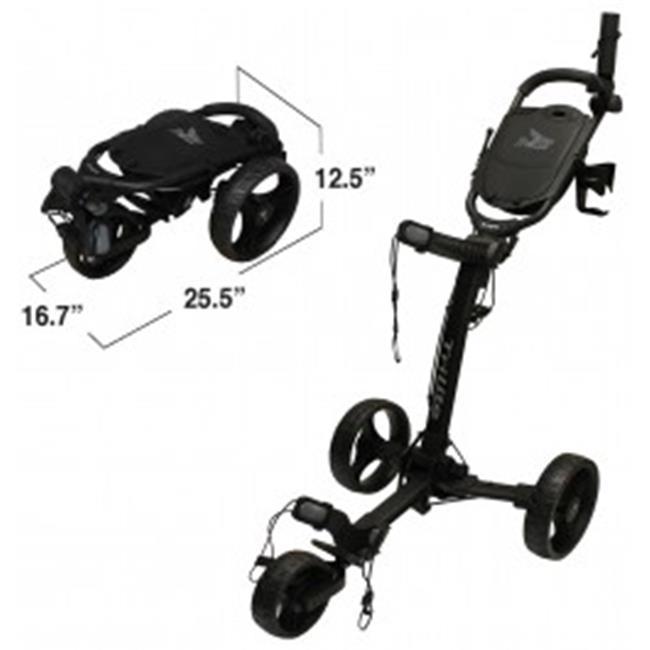 Axglo TL-WH-RD Trilite Golf Push Cart, White & Red
