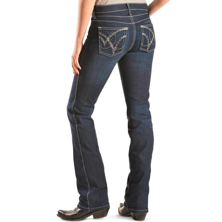 New Hooded Denim (Wrangler Women's Q- Dark Wash Ultimate Riding With Booty Up Technology Jeans - Wrq25st )
