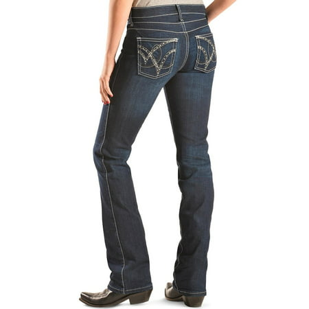 Wrangler Women's Q- Dark Wash Ultimate Riding With Booty Up Technology Jeans - Wrq25st - Firefly Denim