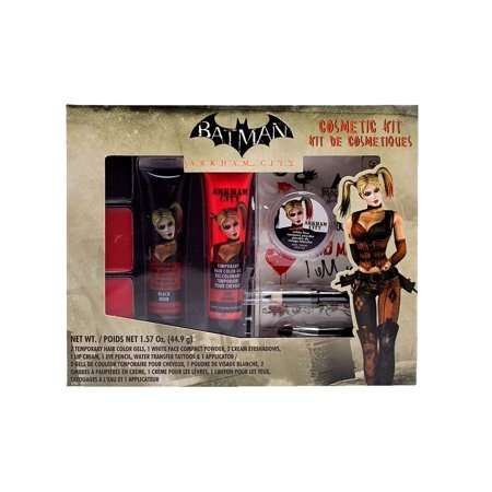 BATMAN Arkham City Harley Quinn Costume Makeup Cosmetic Kit - Party City Halloween Makeup Kits