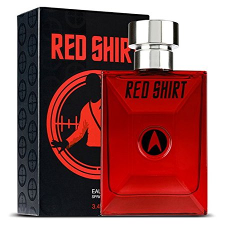 STAR TREK PERFUME for Men Red Shirt EDT Spray, 3.4 Fluid (Top 10 Mens Cologne In The World)