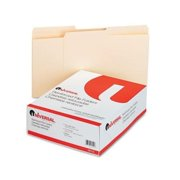 universal office products 16112 file folders, 1/2 cut, two-ply top tab, letter, manila, 100/box