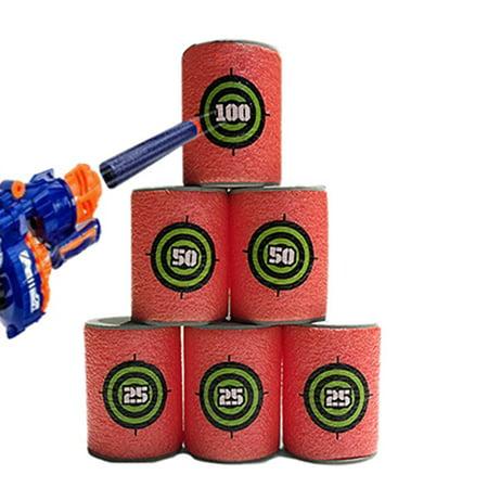 Target Halloween Clearance (Generic 6PCS EVA Soft Bullet Target Foam Can Target Dart Foam Gun Shoot Kids)