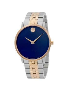 992db777337 Product Image Movado Museum Classic Blue Dial Two-Tone Mens Watch 0607267