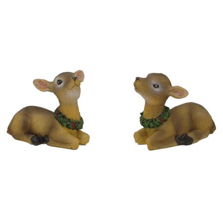 Festive Holiday Reindeer (The Holiday Aisle Holiday 2 Piece Sitting Reindeer Set )