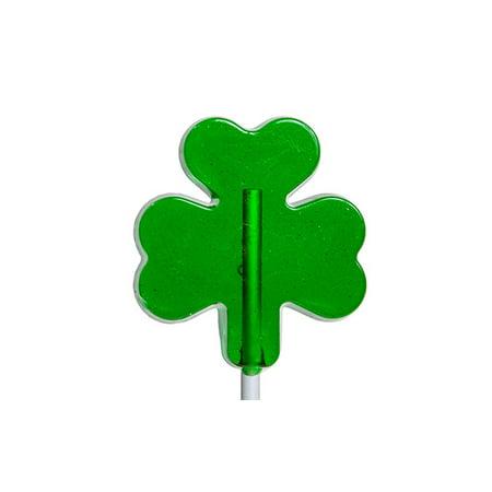 St. Patrick's Shamrock Lollipops 1 oz 24 - Green Lollipops