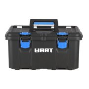 HART Stack System Tool Box, Black with Blue Accents